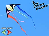 Bee-Kite Tail - Single Line Sailplane Kite 270 x 140 cm with 7 meters tails. Ready to fly with lines on winder included by Bee Kite