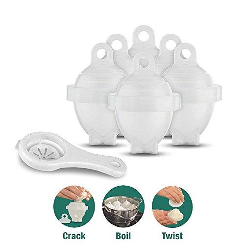 Aolvo - Hervidores de huevos duros sin cáscara, sin BPA, silicona antiadherente, (6 unidades) Anunciado en TV.