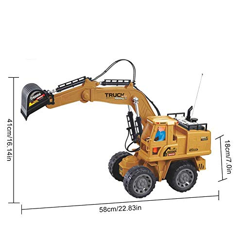 RC Auto kaufen Baufahrzeug Bild 2: Baufahrzeuge Ferngesteuerter Bagger Rc Kinder - 1:8 10-Kanal Ferngesteuerter Bagger Mit 2,4G Fernbedienung Elektrisches Spielzeug Für Kinder*