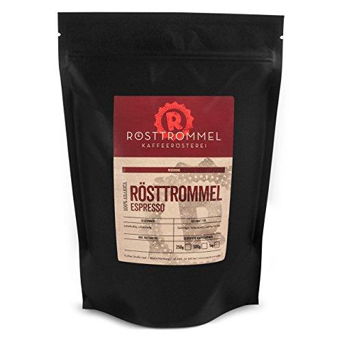 Espressobohnen RÖSTTROMMEL - Rösterei des Jahres 2017 - mittelkräftig - handgeröstet für Vollautomat - Fair & Direkt gehandelt