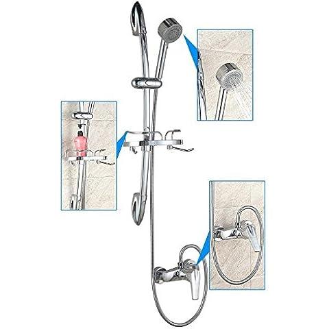 General de cobre simple baño de lujo con ducha de baño Estante cristal toca Setshower