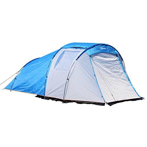 Outsunny Tenda da Campeggio Spiaggia Impermeabile per 4 Persone 375 × 240 × 150cm