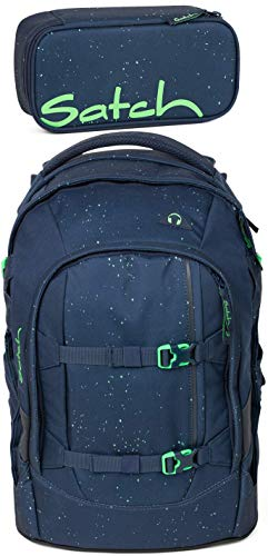 Satch Pack Space Race 2er Set Schulrucksack & Schlamperbox -