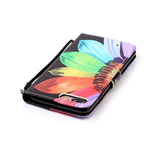 PU Cuir Coque Strass Case Etui Coque étui de portefeuille protection Coque Case Cas Cuir Swag Pour Apple iPhone 7 Plus (5.5 pouces) +Bouchons de poussière (12II) 5