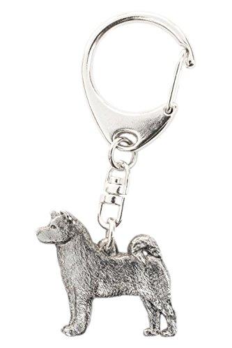 Akita Inu Made in UK, Collezione Portachiavi Artistici Stile Cani