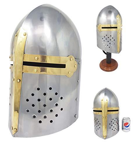 e Sugarloaf Armour Helm Great Helm Mittelalter Panzerhelm Crusader Helm ()