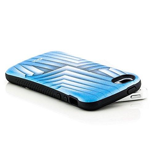 Saxonia Apple iPhone 5 5S SE Hülle Case Schutzhülle | Motiv: Kroko violett Blätter blau
