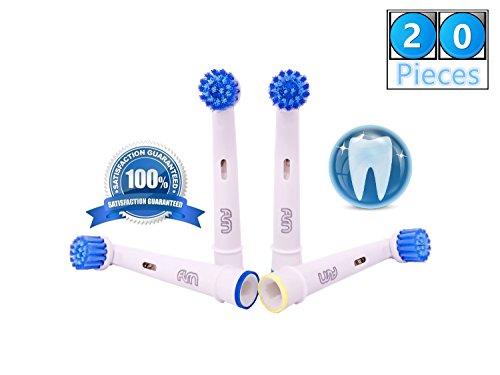 Flm 3d sensitive clean ebs17 - testine di ricambio per spazzolino elettrico compatibili con braun oral b, 20 ricambi