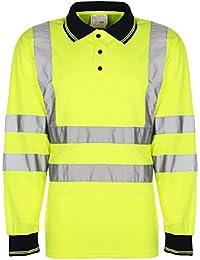 Vêtements de travail haute visibilité à manches longues haute visibilité EN471, HV004–Polo de travail/Chemis'à manches longues, choix de Colours../2.
