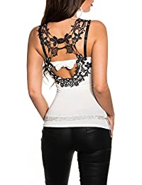 KouCla - Camiseta sin mangas - Escotado por detrás - Básico - para mujer