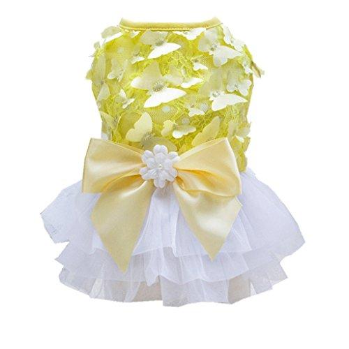 3110bccfad1a MagiDeal Cane Abito Vestito da Cerimonia Nuziale di Sera Principessa  Cucciolo Costume con Bownot - XS