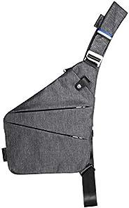 Mens Shoulder Crossbody Chest Bag Classic Sling Slim Backpack Multipurpose Daypack Left-hand