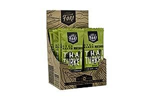 Fori - Grass Fed / Free Range Meat Bars - 20g Protein Per Bar! Paleo Inspired (12 x 69g) (THAI TURKEY)