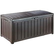 Keter - Arcón exterior Glenwood. Capacidad 390 litros. Color marrón