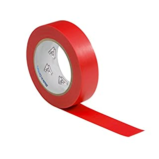 1 roll VDE Electrical Tape Insulating Tape PVC 15mm x 10 m DIN EN 60454-3-1 colour: red