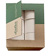 Dalia - Caja de 12 rollos ultralargos (80m/800 hojas) de papel higiénico ecológico sin blanquear