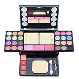 Lidschatten-Palette Make-up-Palette Schimmer Lipgloss Erröten Pinsel Make-up Lidschatten-Palette Hochpigmentierte Kosmetik-Palette (33 color)