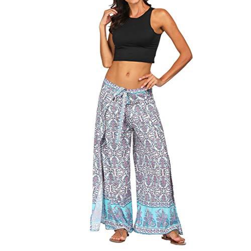 Cebbay Frauen Beiläufige Sommer Lose Yoga-Hosen Baggy Boho Aladdin Hosen Sporthose ()