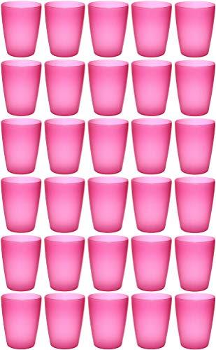 idea-station NEO Kunststoff-Becher 30 Stück, 250 ml, mehrweg, bruchsicher, pink, stapelbar, Party-Becher, Plastik-Becher, Mehrweg-Becher,...