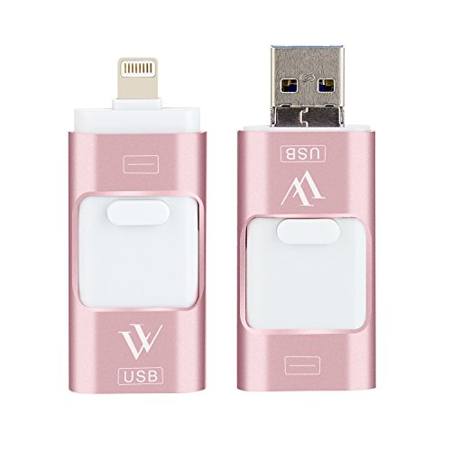 Flash Mac (USB-Stick für iPhone 16 GB USB Speicher, USB 3.0 Flash Memory Stick Externer Speicher für iPhone Mac iPad Android Computer 3 in 1 schwarz)