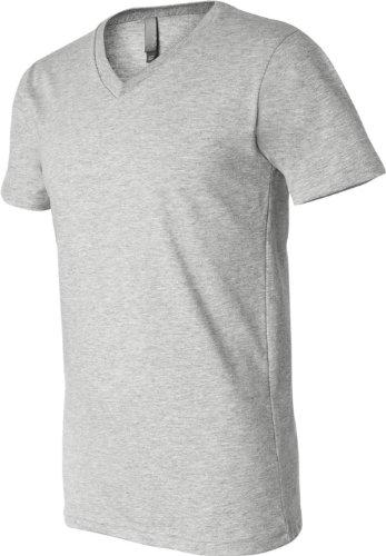 Bella + Canvas Unisex Made in den USA Jersey Kurzarm V-Ausschnitt T-Shirt XXL Athletic Heather