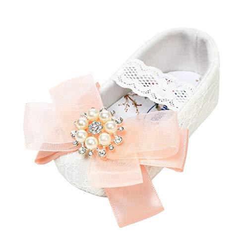 hen Spitze Prinzessin Schuhe Mode Slip-On Klettverschluss Blume Süß Party Schuhe Schmetterlings Weich rutschfest Babyschuhe Elegant Ersten Wanderer-Kinderschuhen ()