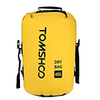 Bundle of 2, Decdeal TOMSHOO 40L Outdoor Water-Resistant Dry Bag Sack Storage Bag for Travelling Rafting Boating Kayaking Canoeing Camping Snowboarding