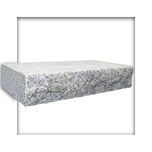 Mauerstein Granit G603 Naturstein hellgrau 40x20x7,5 cm gesägt Trockenmauer 10 Steine (ca. 0,3 m²)