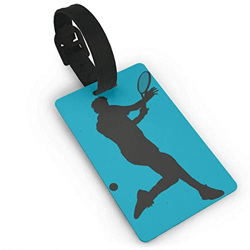 Ewtretr Gepäckanhänger for Travel Luggage Tags with Genuine Hand Strap Tennis Player Travel Suitcase Bag Tag Identify Label -