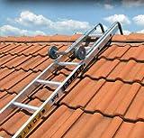 Scala da tetto composta da una scala semplice e da un gancio per il colmo.