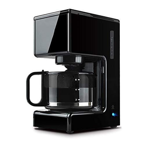 Honoen Automatische programmierbare 10-Tassen-Kaffeemaschine, automatisches Ausschalten, Tropfbewässerung ohne Komfort, gefiltertes Wasser, für Cafés geeignet, schwarz - Holzkohle-schleife