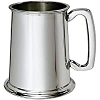 Wentworth Pewter - 1 Pint Pewter Tankard Personalised Engraved Free - Boxed Wedding, Birthday, Retirement, Sports trophy, Dad Gift