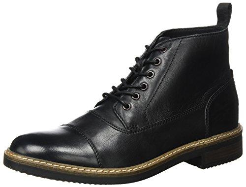 Clarks Men Blackford Berretto Classico Stivali Nero (pelle Nera)