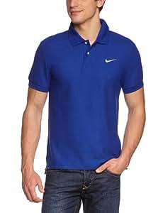 NIKE Herren Polo-shirt Ad Club Pique, deep royal blue/white, XL, 340803-437