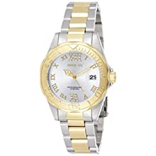 Invicta 12852 Pro Diver Damen Uhr Edelstahl Quarz silbernen Zifferblat
