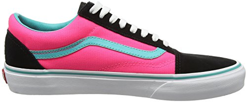 Vans Old Skool, Baskets Basses Mixte Adulte Multicolore (Brite black/neon pink)