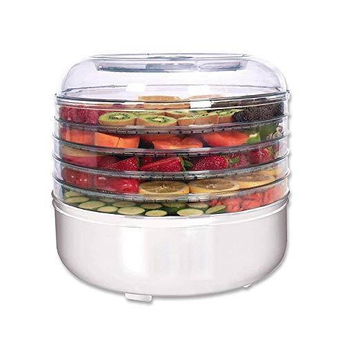 Jukkre Electric Excalibur Food dehydrator Machine Fruits Vegetable Dryer Beef Snack Jerky White Fruit Dehydrator (34x33x26,Transparent)
