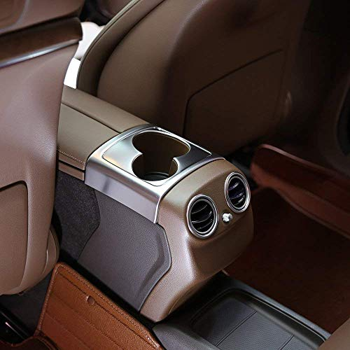 ABS en Plastique Arrière Rangée Coupe Porte Titulaire Décoration Boîte De Rangement Couverture Couverture pour Classe E W213 2016-2018 Argent Mat