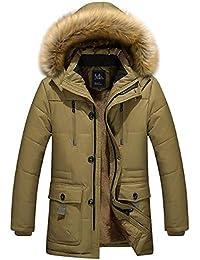 Herren Jacke Parka Winddicht Coat Mantel Winterjacke Männer Pilotenjacke  Pelzkragen Kapuzenjacke Outdoorjacke Hoodies e1d68e834e