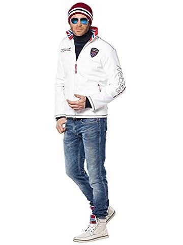 Nebulus Styler Veste polaire Homme Blanc FR : L (Taille Fabricant : L)
