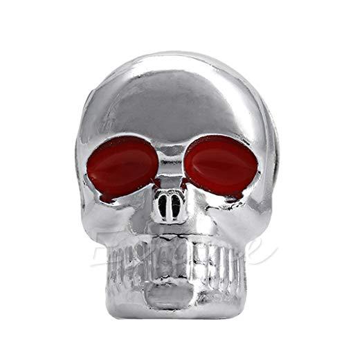 JunYe 1 Stück Motor CycleChrome Skull Nummernschild Windschutzscheibenschrauben Schraube - 2# - Nummernschild 2. änderung