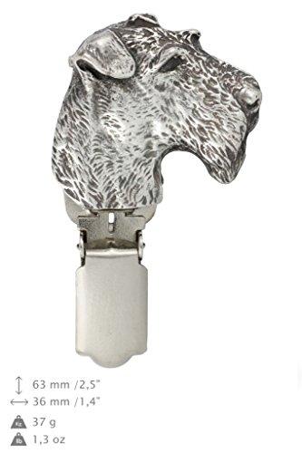 Fox Terrier Wirehaired, Hund clipring , Hundeausstellung Ringclip / Rufnummerninhaber , limitierte Auflage , Artdog