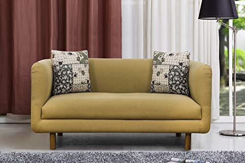 Peachtree Napier Yellow Fabric 2 Seater Sofa