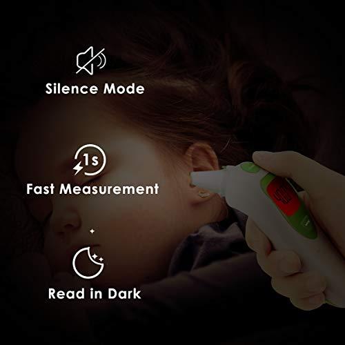 Termometro Bambini Auricolare, Termometro Orecchio Digitale Febbre ad Infrarossi BROADCARE Per Neonati e Adulti, Approvato FDA e CE