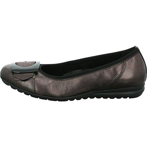 Gabor Damen Comfort Sport Geschlossene Ballerinas Grau (Steel)