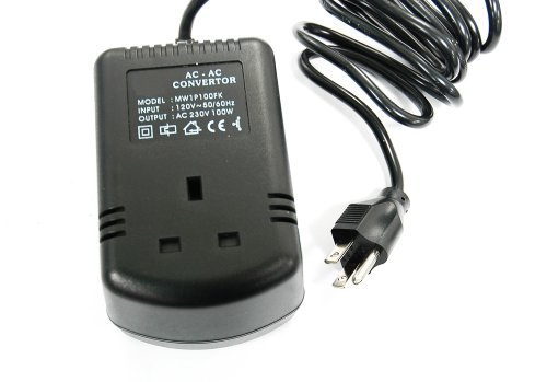 Image of Step up voltage converter 110V - 230V 100W Use UK Electronic Equipment in the USA