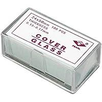 Microscopio cubierta de cristal cristales para muestras microscópicas cubreobjetos de 100 piezas pre-lavar 24 mm x 50 mm