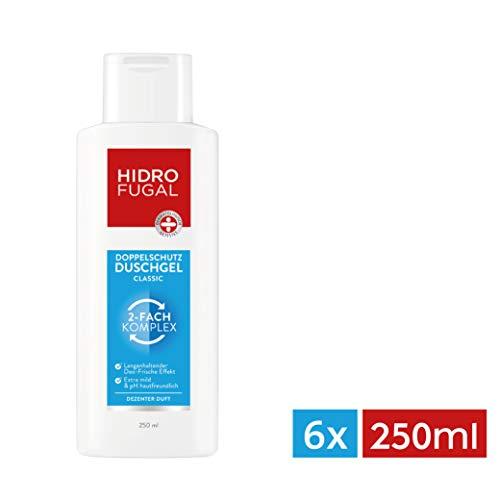 Hidrofugal Duschgel Classic im 6er Pack (6x 250 ml) Doppelschutz Duschgel reduziert Geruchsbildung und beugt geruchsbildenden Bakterien vor Duschgel reinigt mild mit dezentem Duft