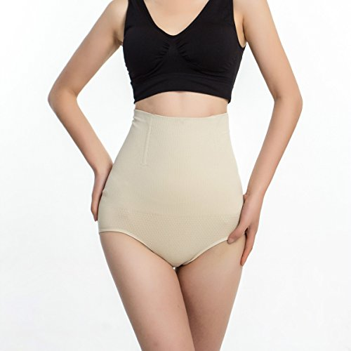 Sexy Women Panties Fashion Designer Body Shaper Hip Abdomen Tummy Control Briefs High Waist Underwear Women's Panty Beige