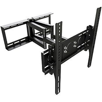 ricoo support tv mural orientable inclinable r08 meuble de t l viseurs suspendu pc plasma oled. Black Bedroom Furniture Sets. Home Design Ideas